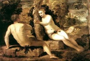 Jacopo Tintoretto (Robusti) - Adam and Eve c. 1550