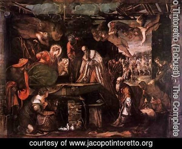 Jacopo Tintoretto (Robusti) - Adoration of the Magi c. 1582