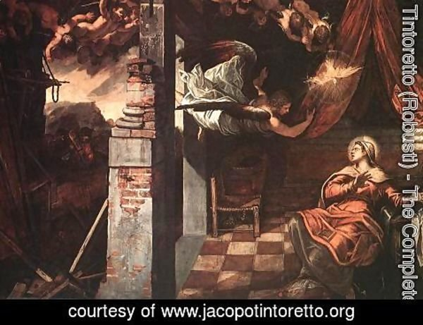 Jacopo Tintoretto (Robusti) - Annunciation 1583-87
