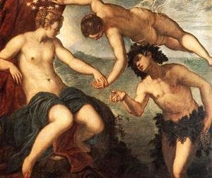 Jacopo Tintoretto (Robusti) - Ariadne, Venus and Bacchus 1576
