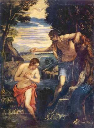 Jacopo Tintoretto (Robusti) - Baptism of Christ