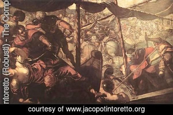 Jacopo Tintoretto (Robusti) - Battle between Turks and Christians 1588-89