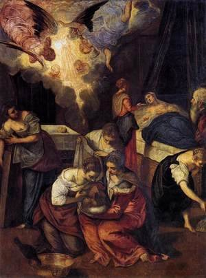 Jacopo Tintoretto (Robusti) - Birth of St John the Baptist c. 1563