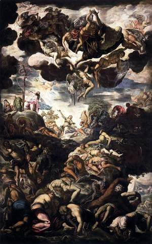 Jacopo Tintoretto (Robusti) - Brazen Serpent 1575-76