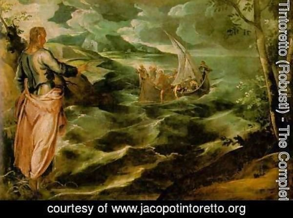 Jacopo Tintoretto (Robusti) - Christ at the Sea of Galilee c. 1575-80