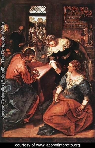 Jacopo Tintoretto (Robusti) - Christ in the House of Martha and Mary 1570-75