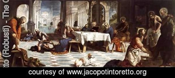 Jacopo Tintoretto (Robusti) - Christ Washing the Feet of His Disciples c. 1547