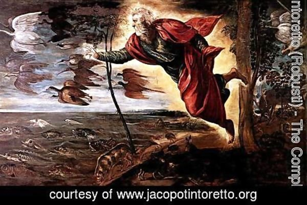 Jacopo Tintoretto (Robusti) - Creation of the Animals c. 1550