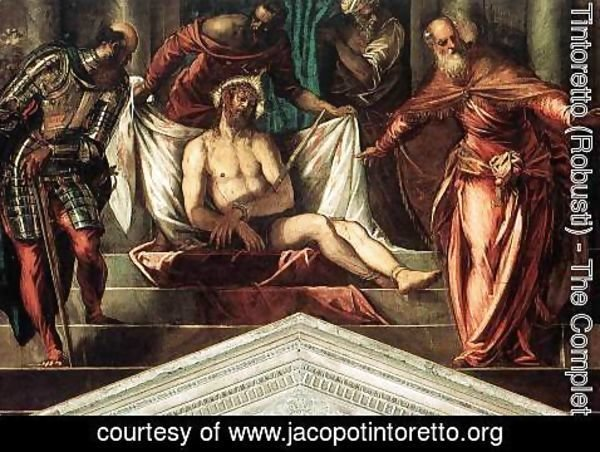 Jacopo Tintoretto (Robusti) - Crowning with Thorns 1566-67