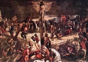 Jacopo Tintoretto (Robusti) - Crucifixion (detail) 1565