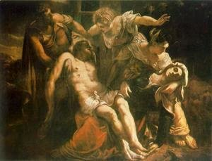 Jacopo Tintoretto (Robusti) - Descent from the Cross (Pieta) c. 1559