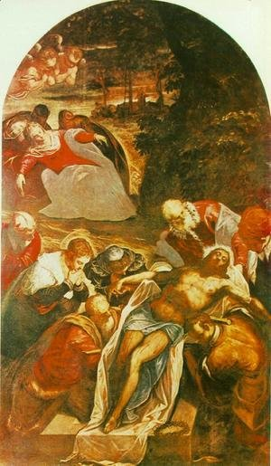 Jacopo Tintoretto (Robusti) - Entombment 1592-94