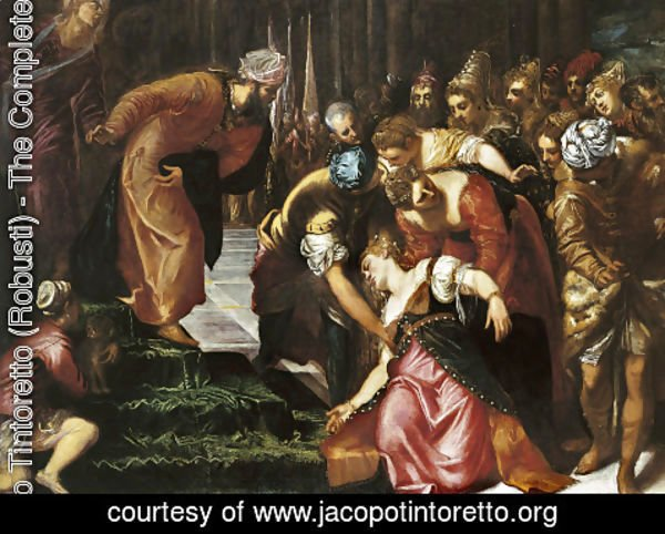 Jacopo Tintoretto (Robusti) - Esther before Ahasuerus 1547-48