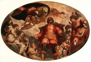 Jacopo Tintoretto (Robusti) - Glorification of St Roch 1564