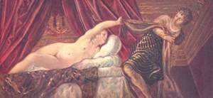 Jacopo Tintoretto (Robusti) - Joseph and Potiphar's Wife c. 1555