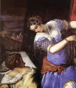 Jacopo Tintoretto (Robusti) - Judith and Holofernes (detail) c. 1579
