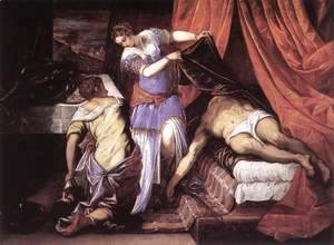 Jacopo Tintoretto (Robusti) - Judith and Holofernes c. 1579
