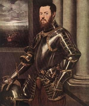 Jacopo Tintoretto (Robusti) - Man in Armour c. 1550