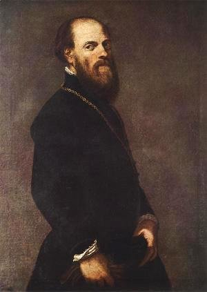 Jacopo Tintoretto (Robusti) - Man with a Golden Lace 1550-60