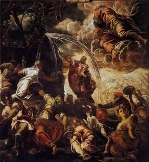 Jacopo Tintoretto (Robusti) - Moses Drawing Water from the Rock 1577