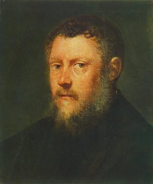 Jacopo Tintoretto (Robusti) - Portrait of a Man (fragment) c. 1548