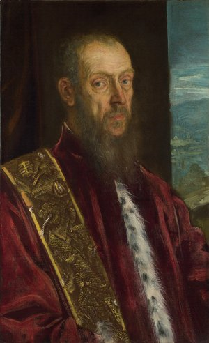Jacopo Tintoretto (Robusti) - Portrait of Vincenzo Morosini c. 1580