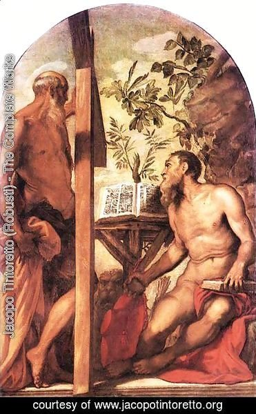 St Jerome and St Andrew c. 1552