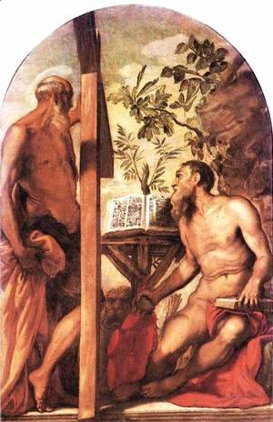 Jacopo Tintoretto (Robusti) - St Jerome and St Andrew c. 1552