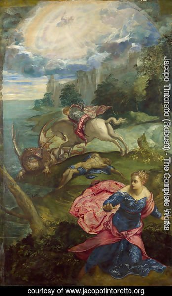 Jacopo Tintoretto (Robusti) - St. George and the Dragon 1555-58