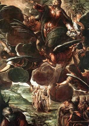 Jacopo Tintoretto (Robusti) - The Ascension (detail) 1578-81