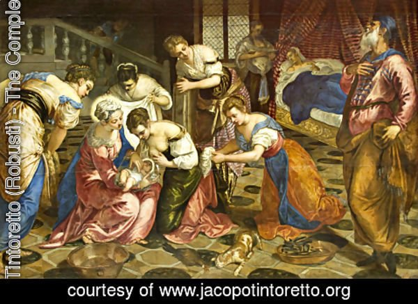 Jacopo Tintoretto (Robusti) - The Birth of St. John the Baptist 1540s