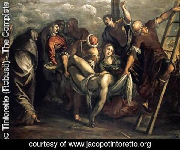 Jacopo Tintoretto (Robusti) - The Deposition 1557-59