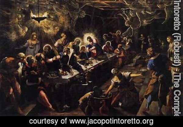 Jacopo Tintoretto (Robusti) - The Last Supper 1592-94
