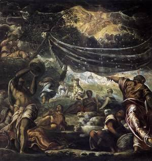 Jacopo Tintoretto (Robusti) - The Miracle of Manna 1577