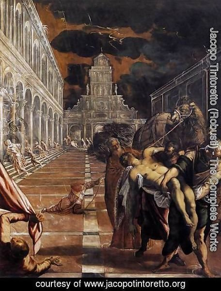 Jacopo Tintoretto (Robusti) - The Stealing of the Dead Body of St Mark 1562-66