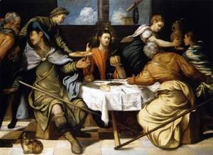 Jacopo Tintoretto (Robusti) - The Supper at Emmaus 1542-43