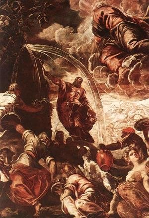 Jacopo Tintoretto (Robusti) - Moses Drawing Water from the Rock [detail: 1]