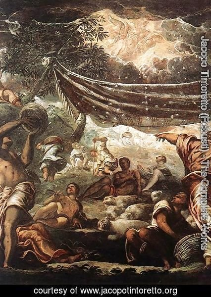 Jacopo Tintoretto (Robusti) - The Miracle of Manna [detail: 1]