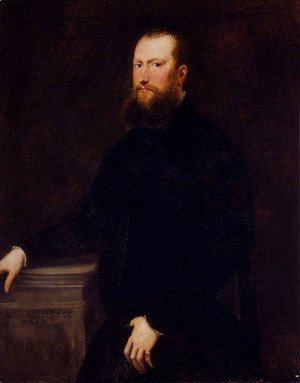 Jacopo Tintoretto (Robusti) - Portrait Of A Bearded Venetian Nobleman