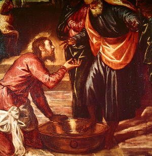 Jacopo Tintoretto (Robusti) - Christ Washing the Feet of the Disciples