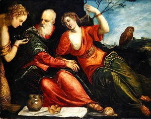 Jacopo Tintoretto (Robusti) - Lot and his Daughters