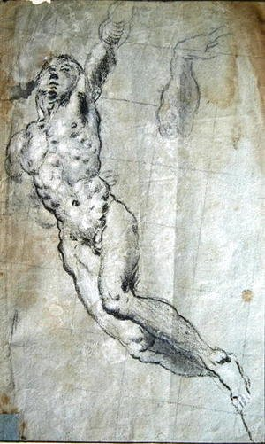 Jacopo Tintoretto (Robusti) - Study for the body of St. George