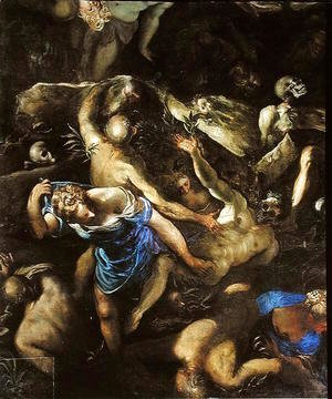 Jacopo Tintoretto (Robusti) - The Last Judgement, the Resurrection of the dead, 1546