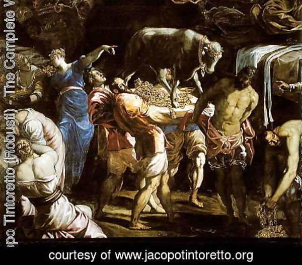 Jacopo Tintoretto (Robusti) - Adoration of the Golden Calf, 1546