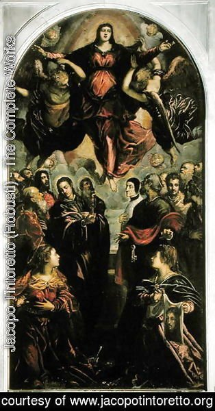 Jacopo Tintoretto (Robusti) - Assumption of the Virgin