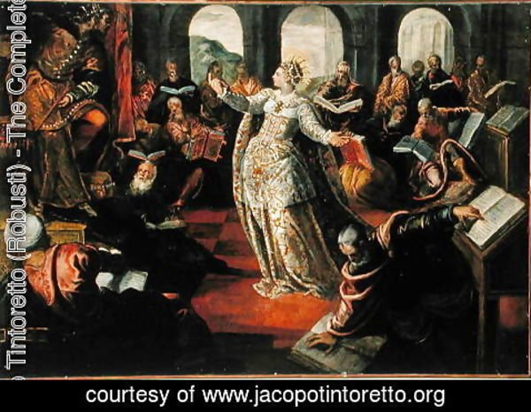 Jacopo Tintoretto (Robusti) - The Dispute of Catherine of Alexandria with the philosophers
