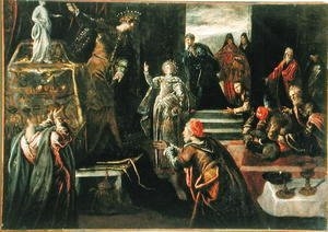 Jacopo Tintoretto (Robusti) - Saint Catherine of Alexandria refusing to worship the Idols