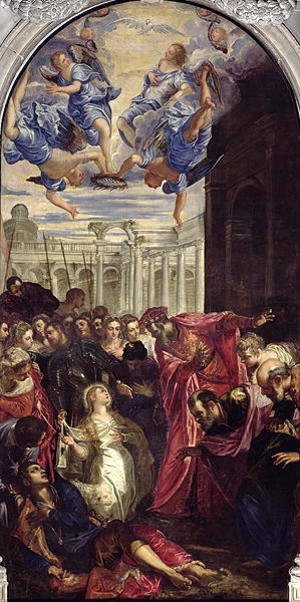 Jacopo Tintoretto (Robusti) - St. Agnes revives the son of the Prefect of Rom