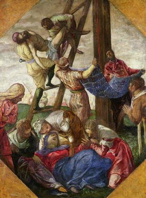 Jacopo Tintoretto (Robusti) - The Descent from the Cross, c.1560-65