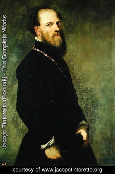 Jacopo Tintoretto (Robusti) - The Man with the Gold Chain, c.1550